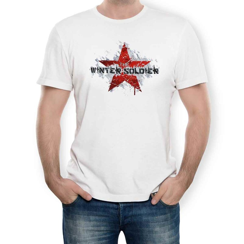 Captain America T-Shirt Winter Soldier white